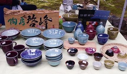 濃濃的日式風格陶磁碗盤