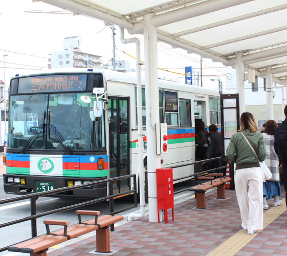 关西京都近郊最大级「三井 OUTLET PARK 滋贺龙王」交通方式野洲车站出发2号公车站